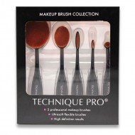 Technique Pro® Make up Oval sminkborstar - 5 set