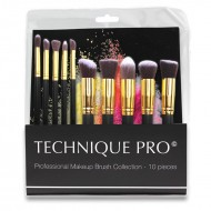 Technique® Pro Lux Makeupborstar, Gold edition - 10 st