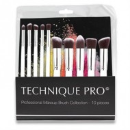 Technique® Pro Lux Makeupborstar, Silver edition - 10 st