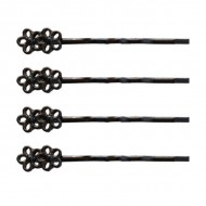 4 stk. Flower Hairpins
