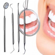 Dental Hygien tandrensningsset- 1 Munspegel, 2x Curette tandrensare, 1 skrapare