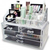 AVERY® Makeup Organizer med 4 låda + top