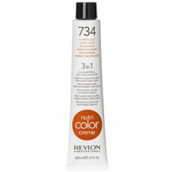 Revlon Nutri Color Creme tube No. 734 Copper Gold 100 ml.
