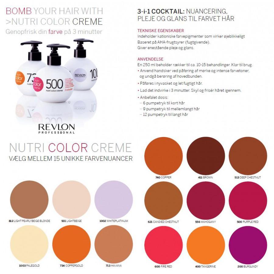 Revlon F 228 Rgbomb Nutri Color Creme 931 Light Beige 250 Ml