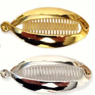 Hårspänne MEGA FISH guld/silver