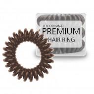 Premium Hårsnoddar brun- 3 stk